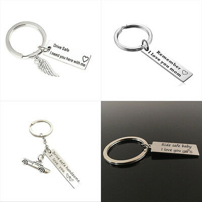1Pc Drive Safe Handsome I Need You Key Ring Keyfob Keychain Lovers Couples Gift