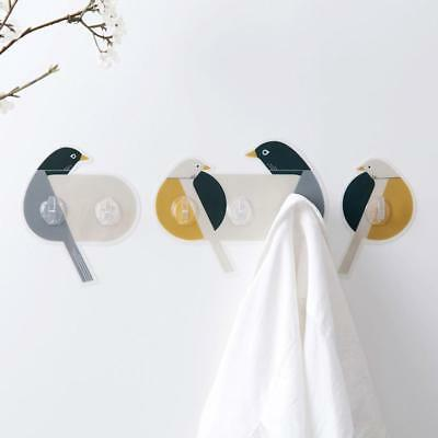 Cute Sticky Bird Shape Wall Hanger Hook Rack Bathroom Towel Kitchen Hooks Decor~