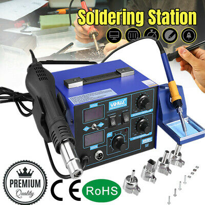 YIHUA 2 in1 862D+ SMD Hot Air Gun Soldering Iron Station Rework Welder 4 Nozzle