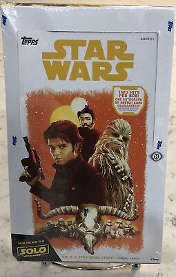 Star Wars Han Solo Sealed Hobby Trading Card Box 2 Hits Per 1 Autograph - Sketch