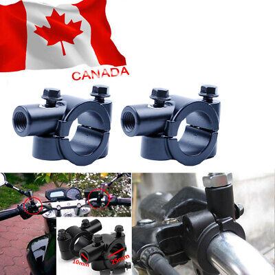 1'' 25mm 10MM Universal Motorcycle Handlebar Mirror Mount Holder Clamp Adaptor