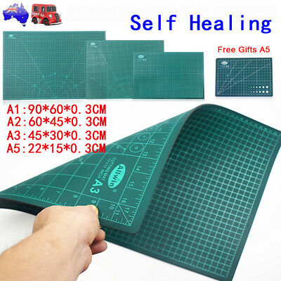 A1 Cutting Mat Self Healing Double-Side Art Craft Carved Printed Board + Gift A5