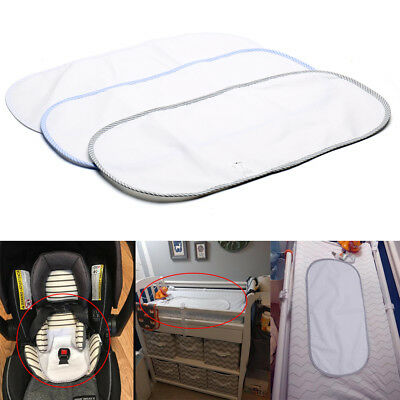 Waterproof Baby Nappies Change Mat Cover Allergy-free Portable 24 inches Whilte