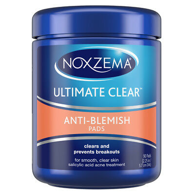 Noxzema Ultimate Clear Anti Blemish Face Pads 90 Pads