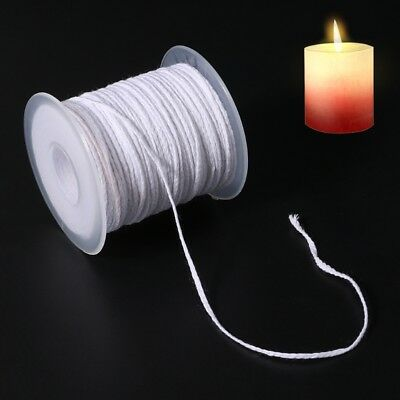61m Spool of Cotton Square Braid Candle Wicks Wick Core Candle DIY Making Supply