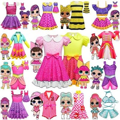 Kids Girls LOL Surprise Doll Party Birthday Wedding Costume Fancy Costume Dress