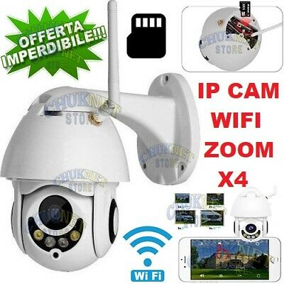 Ip Telecamera Ptz Cam Wifi Camera Speed Dome Zoom Wireless Esterno Micro Sd Ir
