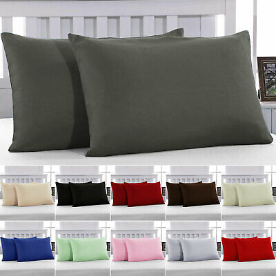 2 X Pillow Case Luxury Cases Polyester Housewife Pair Pack Bedroom Pillow Cover