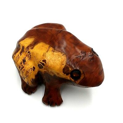 Hand Carved Coolibah Wood Frog by John Startin Cooloongolook NSW Signed Aust