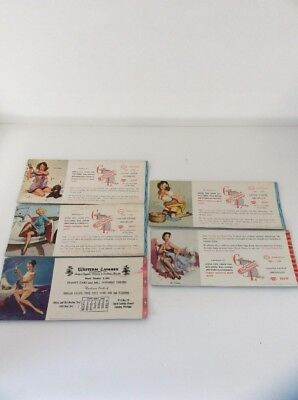 1950'S, GIRL, PIN UPS, INK BLOTTERS, MICHIGAN,Brown and Bigelow, 5 TOTAL,