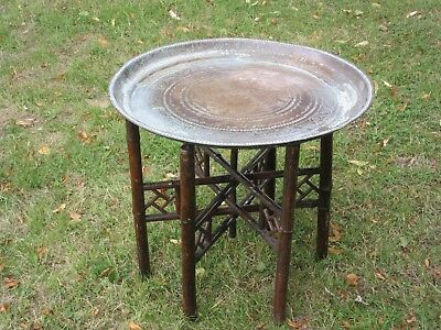 Indian Benares tray topped table Vintage