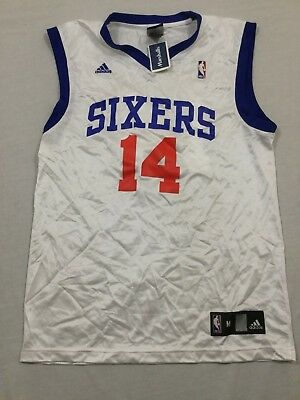 M36 New ADIDAS Philadelphia 76ers Sixers Jason Smith White Jersey MEN S  Medium M b892ae795