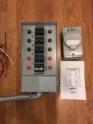 Reliance Controls 31410B Pro/Tran 10-Circuit Indoor Transfer Switch