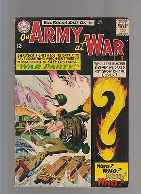 Our Army at War #151 VG- KEY ISSUE (Feb 1965, DC)