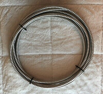 "NEW 30' Southwire Metal Flex Flexible 3/8"" Conduit .375"" Electrical Wire Tubing"