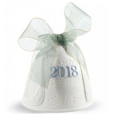 Lladro 2018 Christmas Bell Ornament 1018437.new In Box
