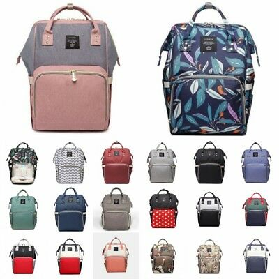 Multifunctional Mummy Bag Backpack Baby Diaper Backpack Mommy Changing Nappy UK