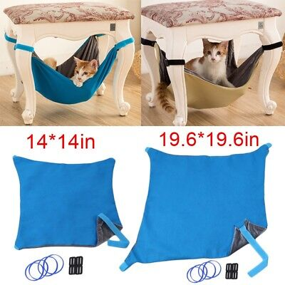 Reversible Pet Dog Cat Hammock Radiator Bed Animal Hanging Cage Pad 14/19.6in GA