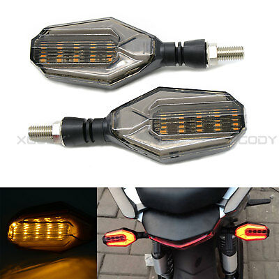 2pcs Motorcycle Turn Signal Indicator Light Amber 3 Wires Universal Blinker 12V