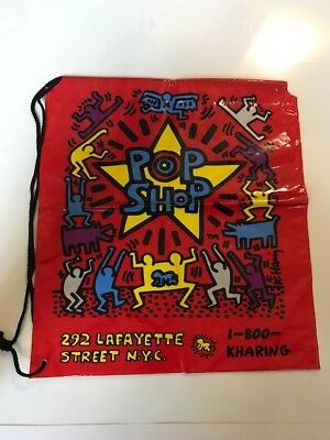 Keith Haring Pop Shop Shopping  Bag - 292 Lafayette St, NYC Extremely Rare