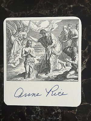 Anne Rice, Author Signed Bookplate