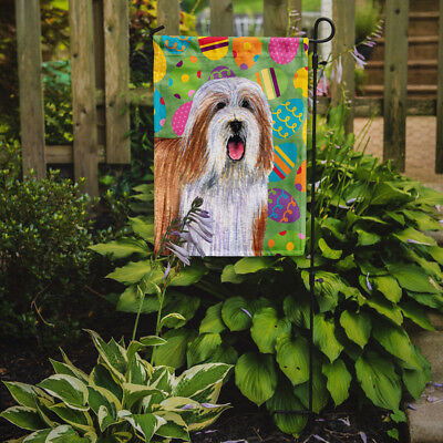 Carolines Treasures  LH9420GF Bearded Collie Easter Eggtravaganza Flag Garden Si