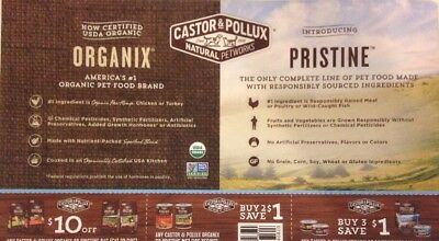 Castor Pollux Organix Pristine Dog Cat Food Coupons High