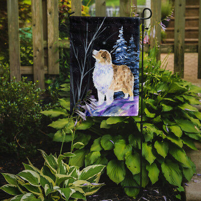 Carolines Treasures  SS8367GF Starry Night Australian Shepherd Flag Garden Size