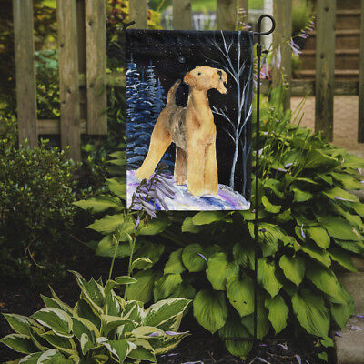Carolines Treasures  SS8361GF Starry Night Airedale Flag Garden Size