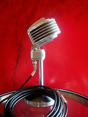 Vintage RARE 1940's Turner 34X microphone deco old antique midcentury w cable
