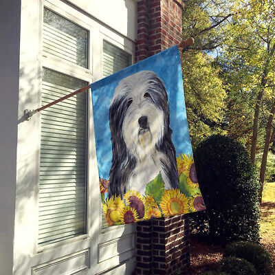 Carolines Treasures  SS4130CHF Bearded Collie Flag Canvas House Size