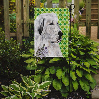 Great Pyrenees Lucky Shamrock St. Patrick's Day Flag Garden Size