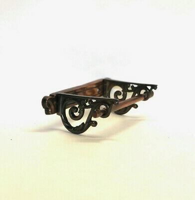 Victorian Brass Toilet Roll Holder Vintage Edwardian Novelty Bronze Finish