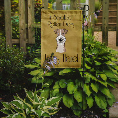 Wire Haired Fox Terrier Spoiled Dog Lives Here Flag Garden Size