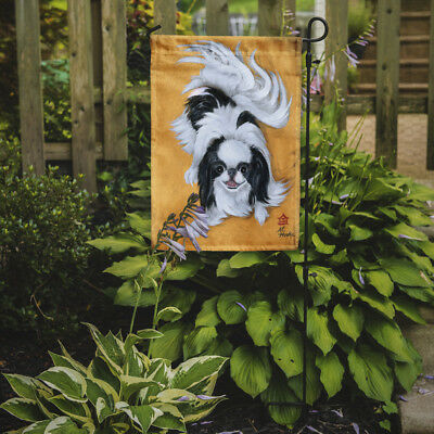 Carolines Treasures  MH1034GF Japanese Chin Black White Play Flag Garden Size