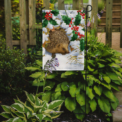 Carolines Treasures  ASA2030GF Hedgehog and Holly Flag Garden Size
