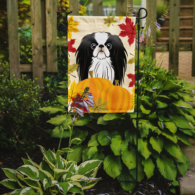 Carolines Treasures  BB2036GF Japanese Chin Thanksgiving Flag Garden Size