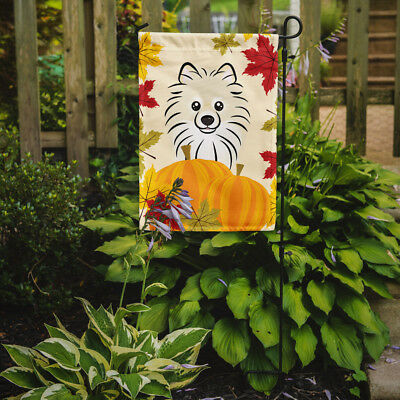 Carolines Treasures  BB2013GF Pomeranian Thanksgiving Flag Garden Size