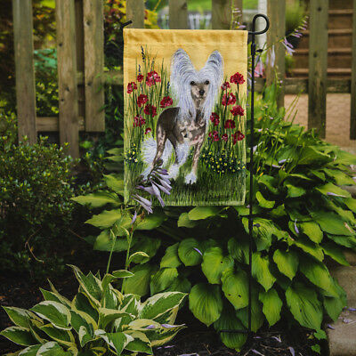Carolines Treasures  SS8185GF Chinese Crested Flag Garden Size