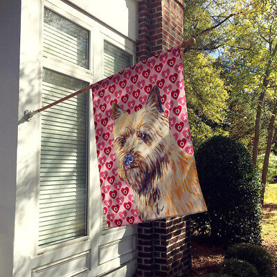 Cairn Terrier Hearts Love and Valentine's Day Portrait Flag Canvas House Size