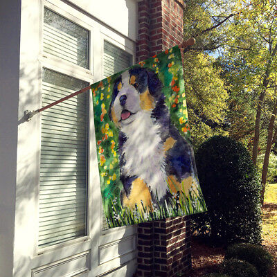 Carolines Treasures  SS8955CHF Bernese Mountain Dog Flag Canvas House Size