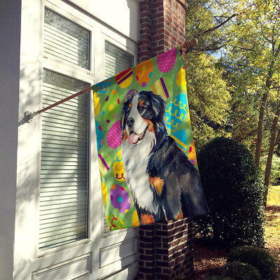 Bernese Mountain Dog Easter Eggtravaganza Flag Canvas House Size
