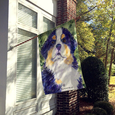 Carolines Treasures  SS8837CHF Bernese Mountain Dog Flag Canvas House Size