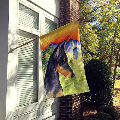 Carolines Treasures  SS8425CHF Manchester Terrier Flag Canvas House Size