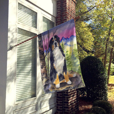 Carolines Treasures  SS8336CHF Bernese Mountain Dog Flag Canvas House Size