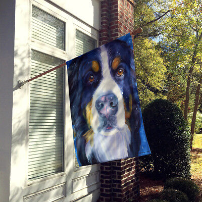 Luca the Bernese Mountain Dog Flag Canvas House Size