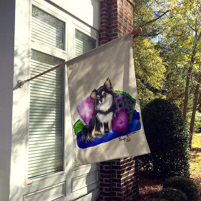 Carolines Treasures  MH1012CHF Chihuahua on their couch Flag Canvas House Size