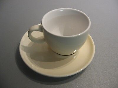 7 oz Coffee Cups & Saucers . Beige Set of 6 . ** Free Delivery **