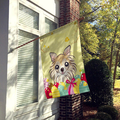 Carolines Treasures  BB1933CHF Chihuahua Easter Egg Hunt Flag Canvas House Size