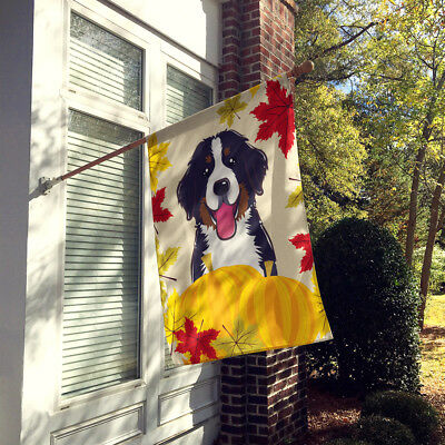 Bernese Mountain Dog Thanksgiving Flag Canvas House Size